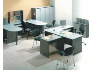 Набор мебели для персонала Стратегия серая